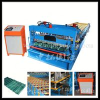 Customers design automatic high speed glazed tile roofing roll forming machine