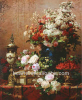 Famous Artist Work Still Life of Flowers and Urn Raspberry Oil Paintings