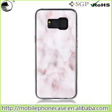 TPU phone cover waterproof marble phone case for Samsung galaxy S8 plus