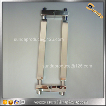 square tube glass pull handle