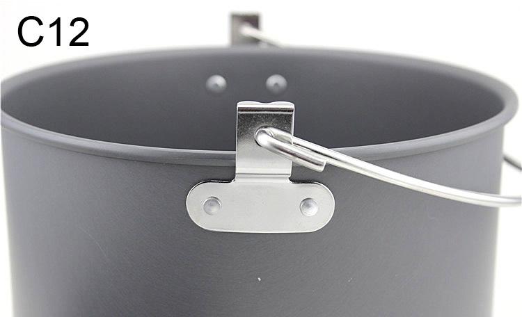 Wholesale Large Capacity High Quality Hanging Camping Pot Tripod Bonfire Outdoor Cookware Pot