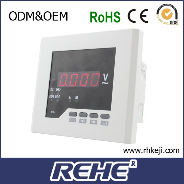With 3 warranty LED display REHE Meter single phase DC digital voltage meter RH-DV21