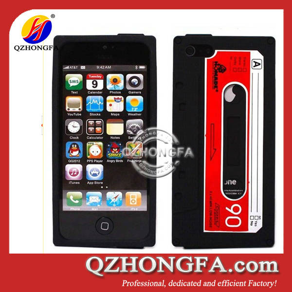 Retro Cassette Tape Silicon Case for iPhone 4 4S HF-AS01