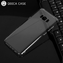 High clear hard plastic transparent phone case for samsung galaxy s8 / s8 plus PC back full cover