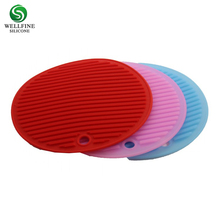 Hot Food Table Mat Non Slip Silicone Rubber Pad, Silicone Trivet Mat Silicone Pot Holder