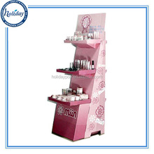 Cardboard retail make up display stand paper cosmetic display stand