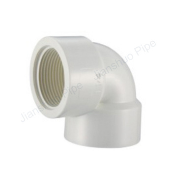 Best price UPVC BS thread water system pipe fitting threaded female elbow