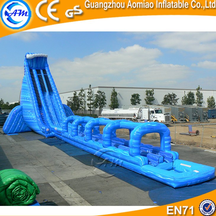 2016 HOT new design funny adult size giant inflatable water slide with pool