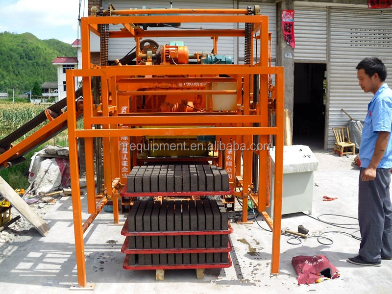 Hydraulic concrete hollow high pressure brick making machine