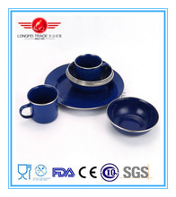 High Quality Enamel / Ceramic Coffee Set/Coffee Tea Cup Mug with Plate Set
