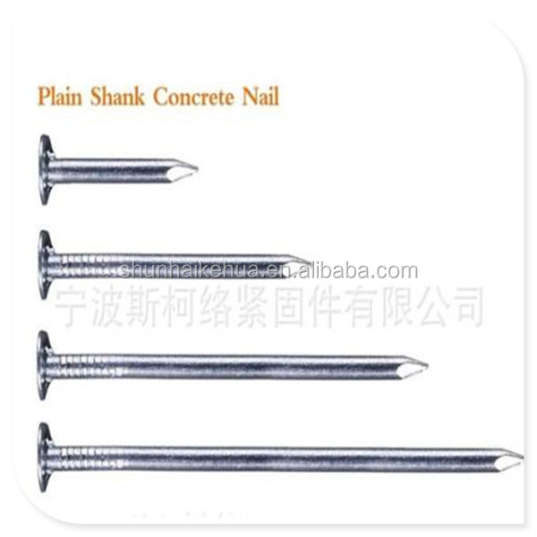 China Galvanized Concrete wire Nails for building