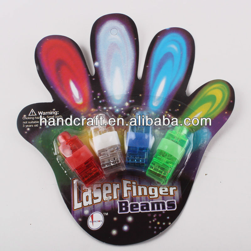 2013 new products colorful LED finger light for party favor