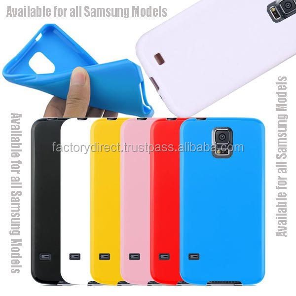 New Gel TPU Silicone Case Cover Pouch Bumper Wallet for Samsung Galaxy S4 IV i9500 / Galaxy S5 V i9600 White