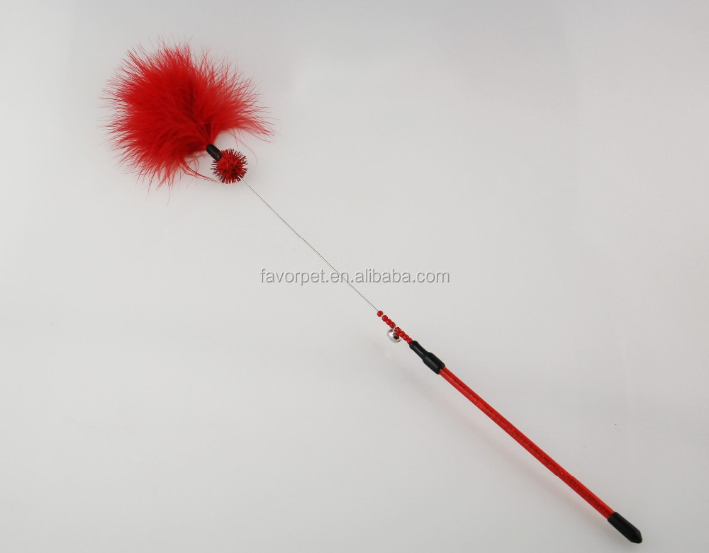 Best quality promotional Pet Products fashion design natural cat feather toy