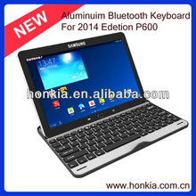 Wireless keyboard for Sumsung Galaxy 10.1inch P600 bluetooth keyboard with aluminum cover
