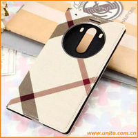 Phone battery back cover flip leather PU case for LG G3