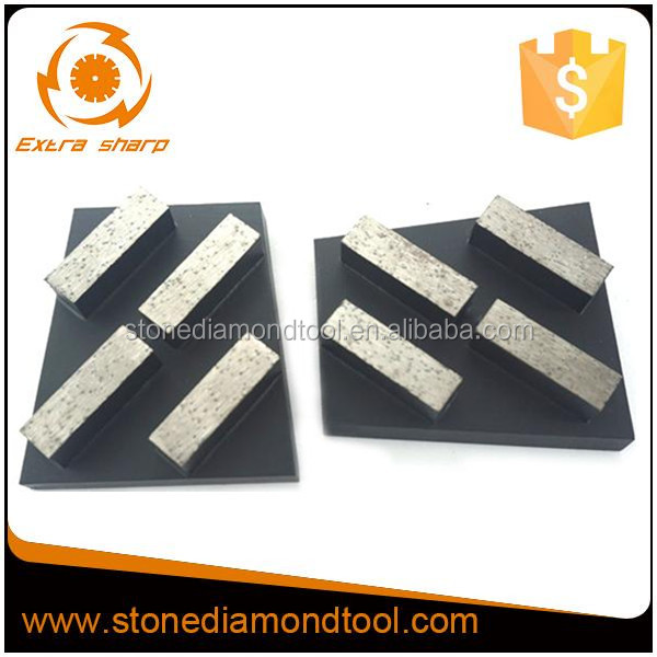 Diamond floor grinding tools / concrete grinding wedge block / 4 segment tools