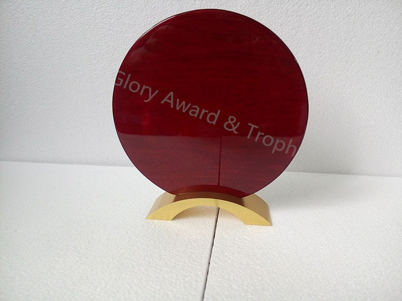 Quality Blank Glossy Round Shield Plaque Wood Award