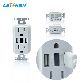 Guangzhou 15 amp usb murale smart outlet schuko receptacle