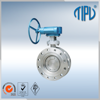 Medium pressure China supplier automated butterfly valve for industrial use