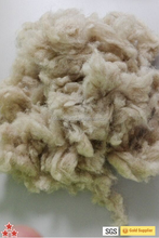 27-28mic Natural light brown scoured wool combed wool raw sheep wool felting