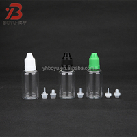 30ml PET plastic e cigarette liquid bottle with screw caps