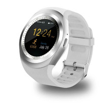 New arrival fashion design round screen bluetooth smartwatch phone camera sim smart watch Y1