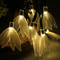 Battery operated indoor and outdoor feather shaped LED string lights