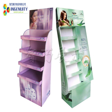 China factory custom hot sale paper makeup mac cosmetic display stand/cosmetic product Standees Pop Up Displays