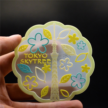 New gift items 3d custom transparent embossed rubber coaster