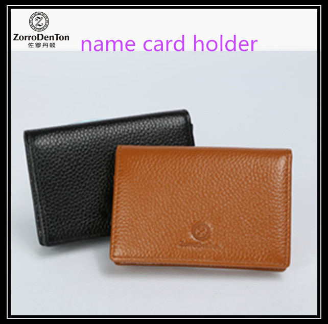 Leather card holder business credit card case guangzhou factory