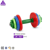 Factory wholesale Lenwave 20kg dismountable Color rubber iron dumbbell lumping weight
