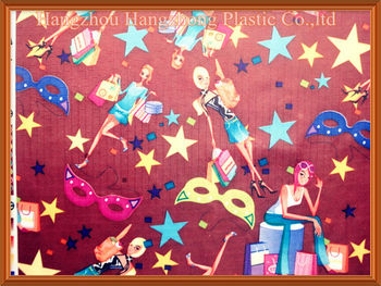 Cartoon Printed Oxford 420D PVC Coated Fabric