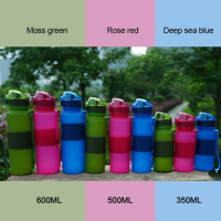 2015 novelties water bottle from China, portable silicone tumbler, energy drink foldable bottle