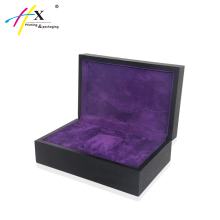 HUAXIN Packaging Custom Wooden Watch Box Wholesale, Black Wooden Watch Box with logo