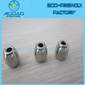 Nickel Plated Cord Spring Toggle Stopper Finish Metal Cord Ends