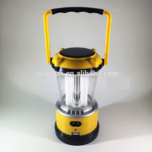 AC motor crank dynamo solar lantern radio with siren hot sell