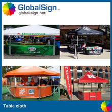 Good quality trade show printed table cover