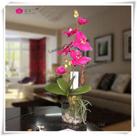 good looking red orchids floral fabric arrangements on sale