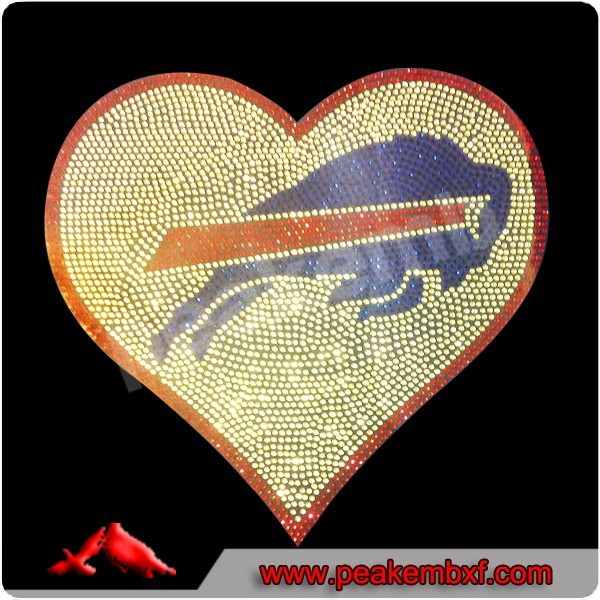 Rhinestone Buffalo Bills Iron on Transfers Wholesale PU Vinyl Transfers New Design