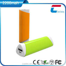 Promotional Gift 2200mah Lipstick Design Powerbank, Portable Charger Power Bank, Manual for Power Bank
