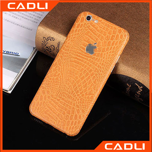 Full Protect Skins Wrap Cellphone Full Body Crocodile Grain leather phone case for iPhone 6S