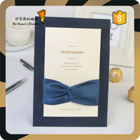 Free Sample Customized Luxurious Wedding Invitation Card