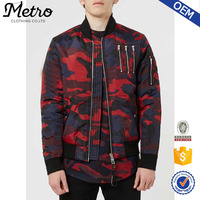 New Designers Mens Camo Padded MA1