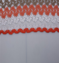 custom polyester embroidery lace fabric With Stable Function