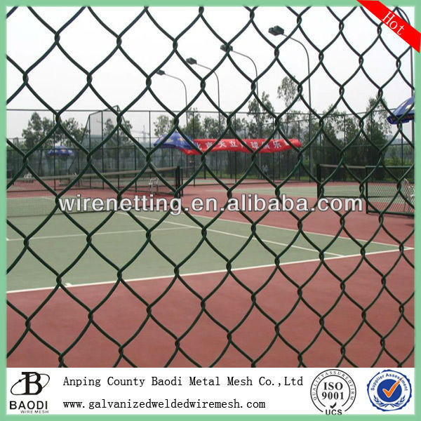 Diamond PVC Coated Chain Link Wire Mesh Fence