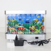 Swimming fake fish toys Aquarium led light 12V beautiful gift for kids