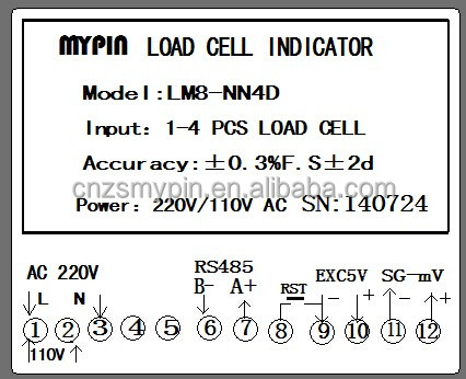 Economic type Load cell controller for up to 4 load cells(MYPIN)