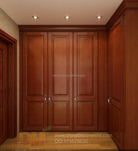 wooden classical wardrobe custom and 3D rendering
