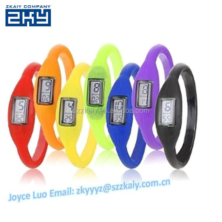 ZKY-0004 Candy Ion Jelly Silicone Rubber Sports Wrist Bracelet Anion Ion Watch For Mens Ladies Led Watches Wristwatch Pocketwatc